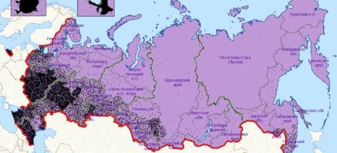 Определение численности населения в местном районе тяготения
